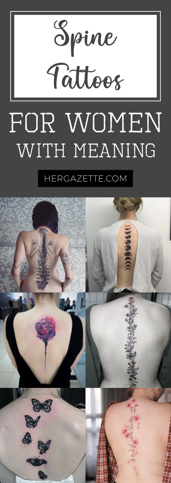 Spine Tattoos For Women With Meaning