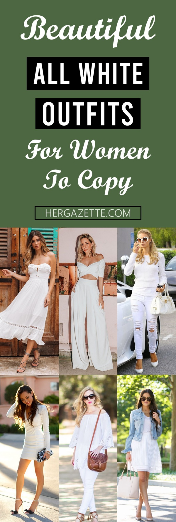 Beautiful All White Outfits For Women To Copy