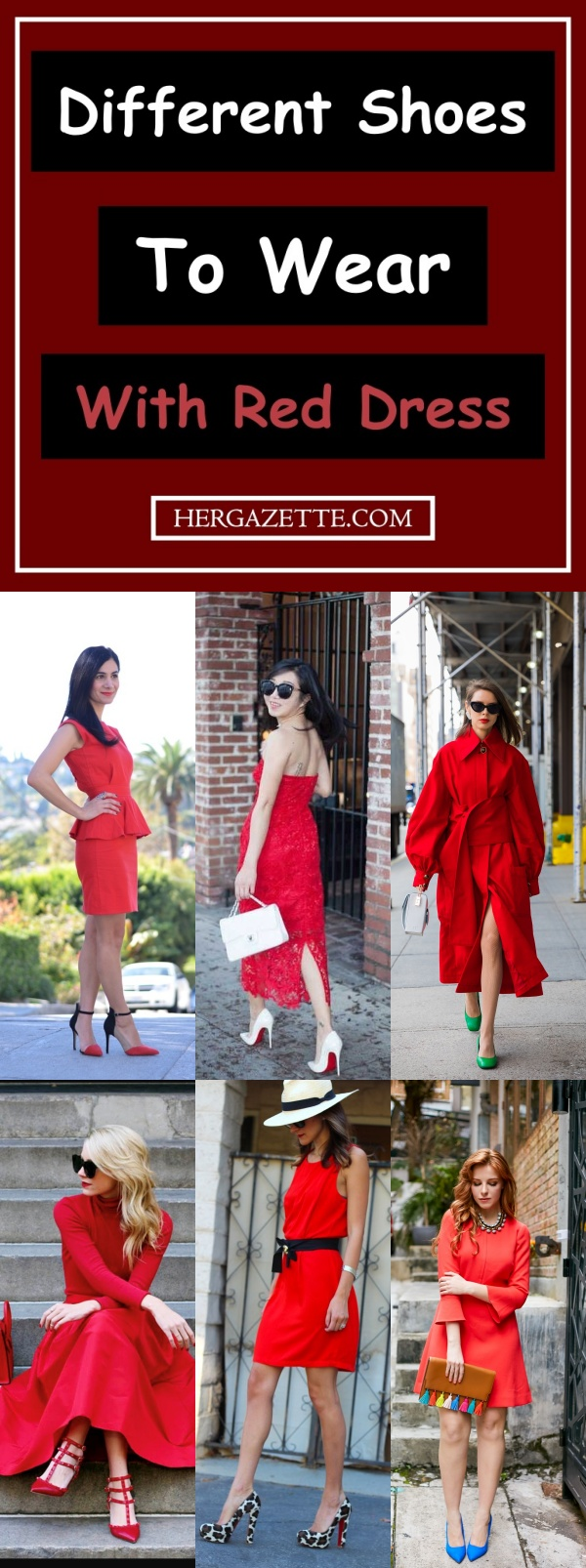 shoes to wear with red dress